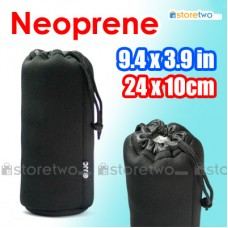 "Neoprene Lens Pouch Bag Durable Case 9.4x3.9"" 24x10cm 100-300mm (XL)"