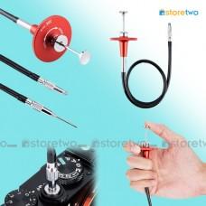 Red JJC Threaded Cable Release 40cm Mechanical Shutter Lock Bulb Mode