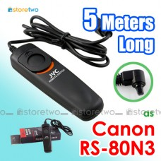 RS-80N3 JYC Canon 5 Meters Remote Shutter Control Cord 5m 7D 5DM4 50D