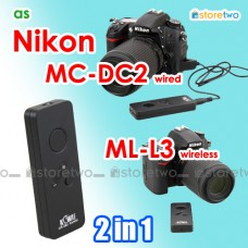 2 in 1 Nikon ML-L3 MC-DC2 Wireless Remote Wired Shutter Z7 V3 S1 P1000