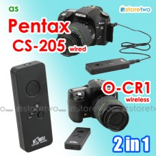2 in 1 Pentax O-RC1 CS-205 Wireless Remote Wired Shutter Q7 K-1 MX-1