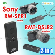 2 in 1 Sony RMT-DSLR2 RM-SPR1 Wireless Remote Wired Shutter RX100 V IV