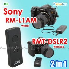 2in1 Sony RMT-DSLR2 RM-L1AM Wireless Remote Wired Shutter A77 II A7M3