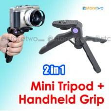 2 in 1 Mini Tripod Handheld Shooting Grip Comfort Easy-hold Handy